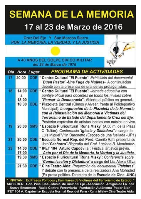 Semana de la Memoria_Marzo2016_AficheDigital